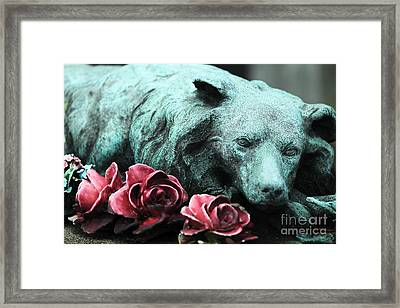 Loyal Throughout Eternity Framed Print by John Rizzuto
