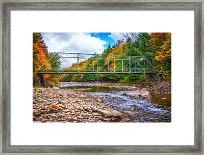 Loyalsock Creek Pennsylvania Paint Framed Print by Steve Harrington