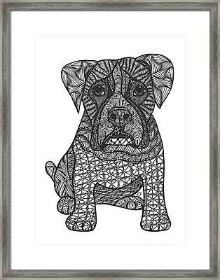 Loyalty- Boxer Dog Framed Print by Dianne Ferrer