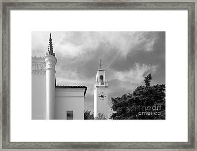 Loyola Marymount University Clock Tower Framed Print by University Icons