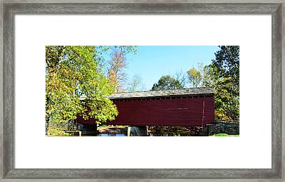 Loy's Station Covered Bridge Framed Print