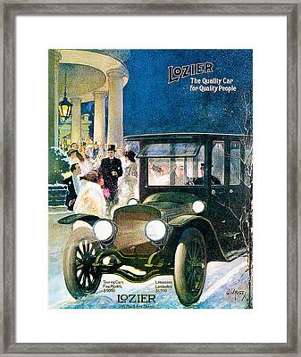 Lozier Framed Print by Vintage Automobile Ads and Posters