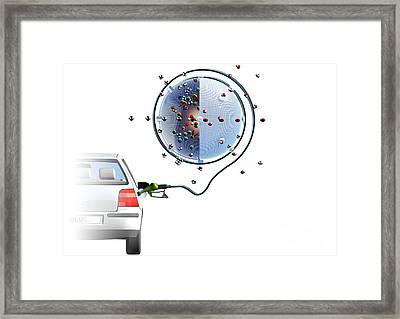 Lpg Powered Car, Artwork Framed Print by Hans-ulrich Osterwalder