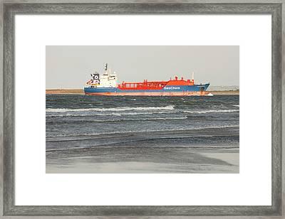Lpg Tanker Framed Print by Ashley Cooper