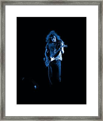Ls Spo #25 In Blue Framed Print