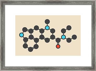 Lsd Lysergic Acid Diethylamide Molecule Framed Print by Molekuul