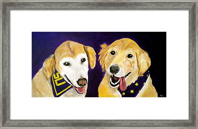 Lsu Fans Framed Print by Debi Starr