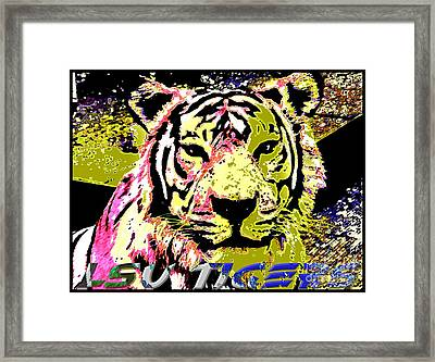 Lsu Fighting Tigers Framed Print by RJ Aguilar