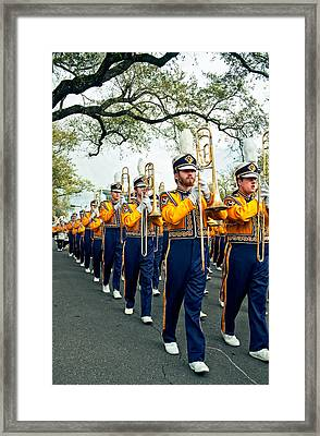 Lsu Marching Band 3 Framed Print by Steve Harrington