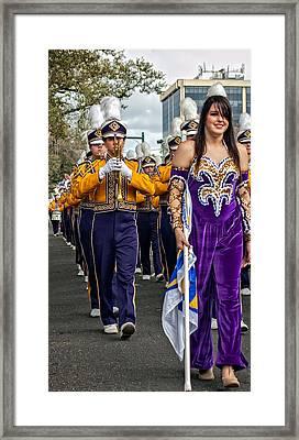 Lsu Marching Band 5 Framed Print by Steve Harrington