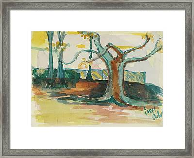 Lsu Oaks Cypress Knees Framed Print