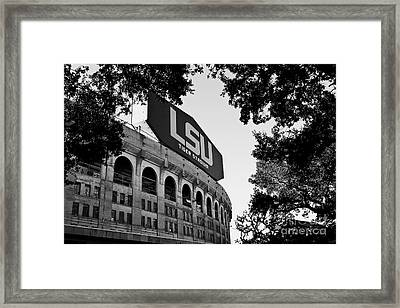 Lsu Through The Oaks Framed Print by Scott Pellegrin