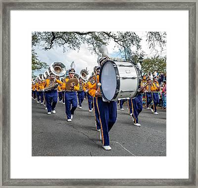 Lsu Tigers Band 3 Framed Print by Steve Harrington