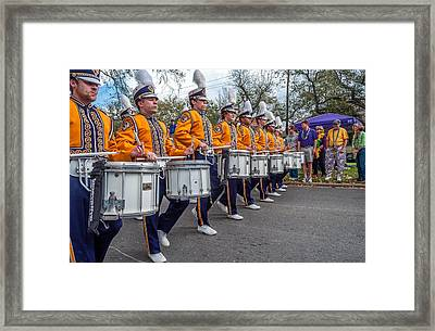 Lsu Tigers Band 4 Framed Print by Steve Harrington