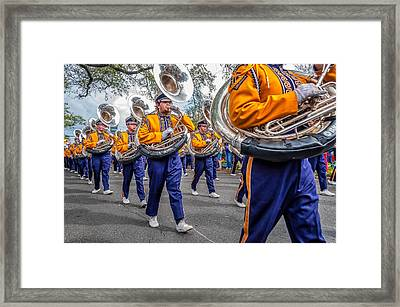 Lsu Tigers Band Framed Print