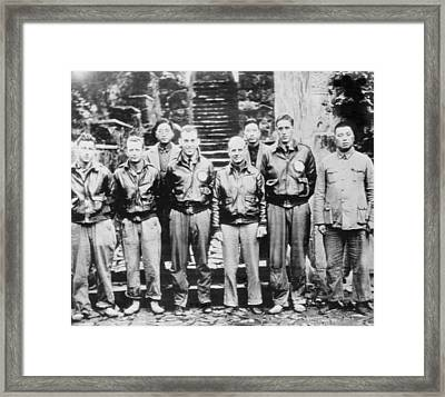 Lt. Col. Doolittle With Members Framed Print by Everett