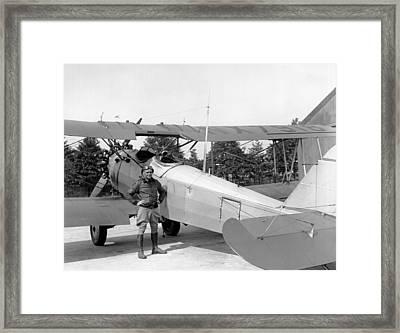Lt. Doolittle's Anti Fog Plane Framed Print by Underwood Archives