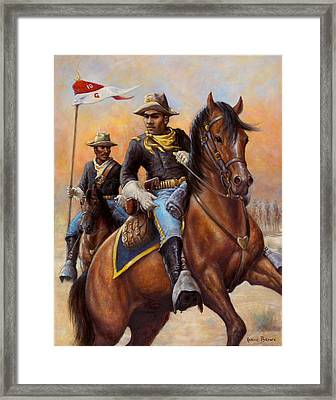 Lt. Flipper's Command Framed Print by Harvie Brown