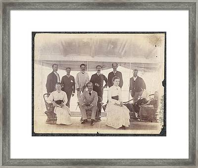 Lt Govrs Tour On Rhotas At Monghyr Framed Print by British Library