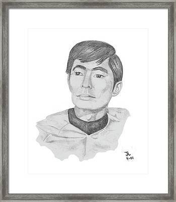 Lt. Sulu Framed Print