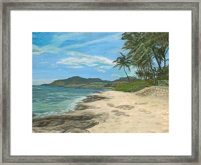 Lualualei Beach Framed Print