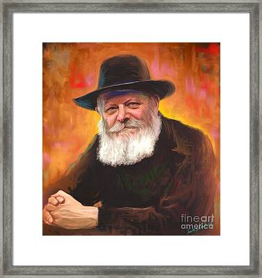 Lubavitcher Rebbe Framed Print by Sam Shacked