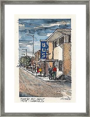 Lubbock Bus Station Framed Print