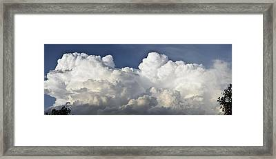 Lubbock Cloud Formation Framed Print by James W Johnson