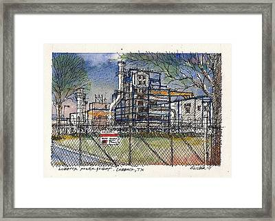 Framed Print featuring the mixed media Lubbock Power And Light by Tim Oliver