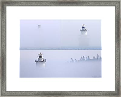 Lubec Channel Lighthouse Framed Print by Marty Saccone