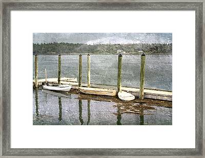 Lubec - Maine Boat Dock  Framed Print