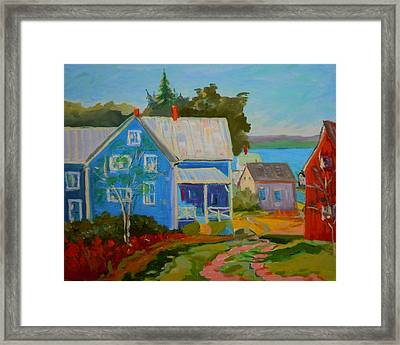 Lubec Village Framed Print