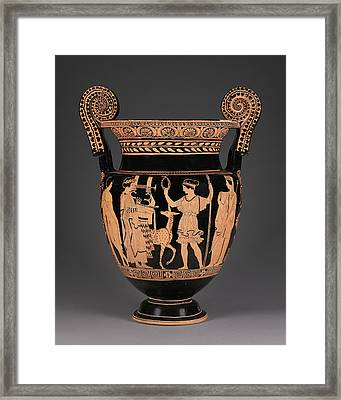 Lucanian Red-figure Volute Krater Attributed To The Palermo Framed Print