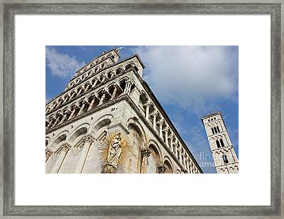 Lucca Basilica San Michele In Foro  Framed Print