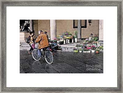 Lucca Biker Framed Print