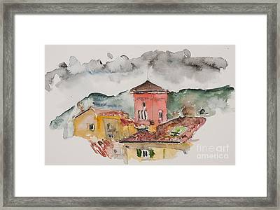 Lucca Church Of Santa Maria Framed Print by Fred Truitt