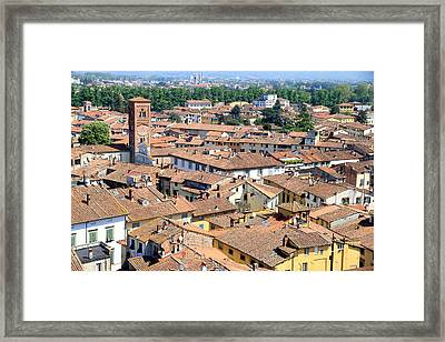 Lucca Cityscape Framed Print