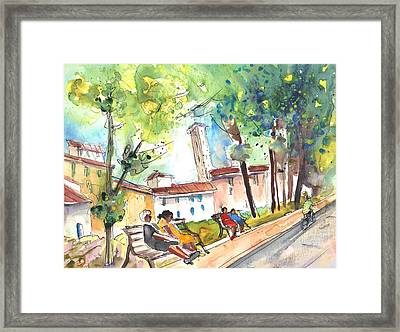 Lucca In Italy 03 Framed Print by Miki De Goodaboom