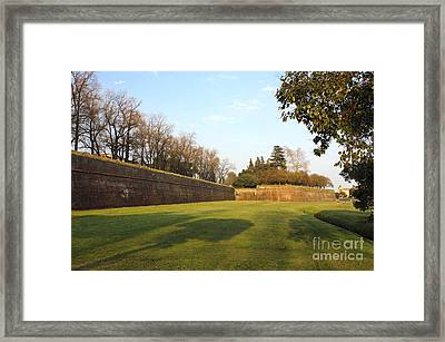 Lucca Old City Wall Framed Print