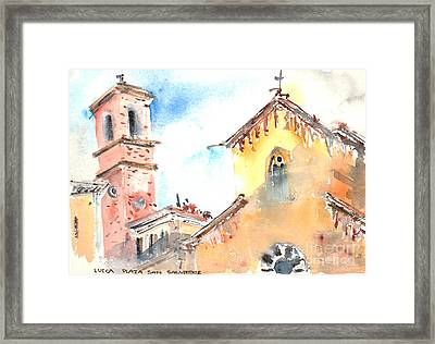 Lucca Plaza San Salvatore Framed Print by Fred Truitt