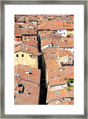 Lucca Roofs Framed Print