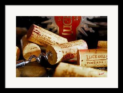 Italian Wine Mixed Media Framed Prints
