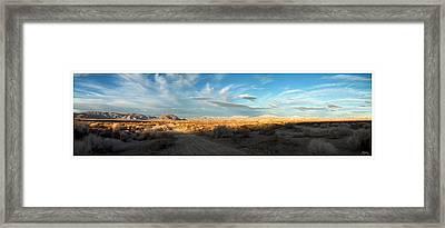 Lucerne Desert Vista Framed Print