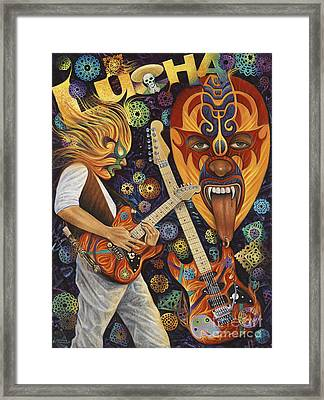 Lucha Rock Framed Print