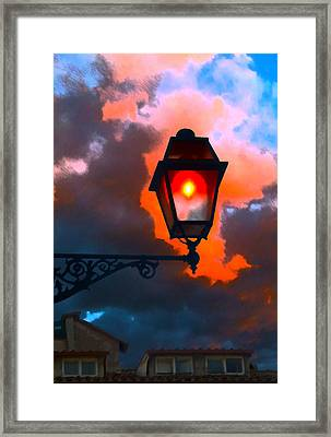 Framed Print featuring the digital art Luci Di Roma by Sandro Rossi