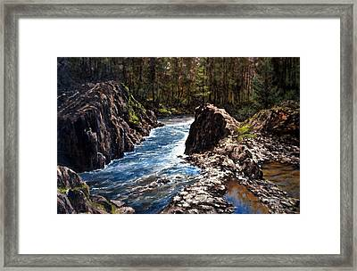 Lucia Falls Downstream Framed Print