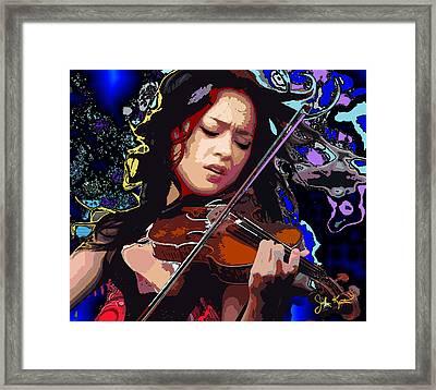 Lucia Micarelli Framed Print by John Keaton