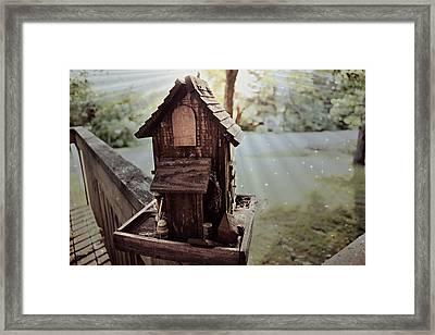 Lucid Bird House Framed Print
