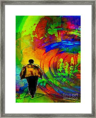 Framed Print featuring the digital art Lucie's Lover by Mojo Mendiola
