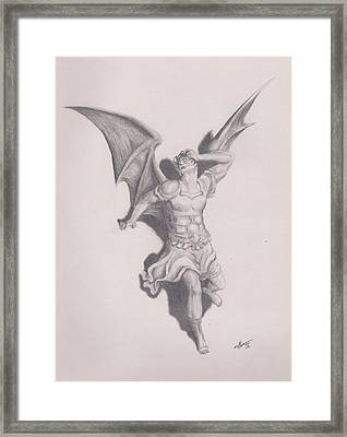 Lucifer Framed Print by Crosson Nipper